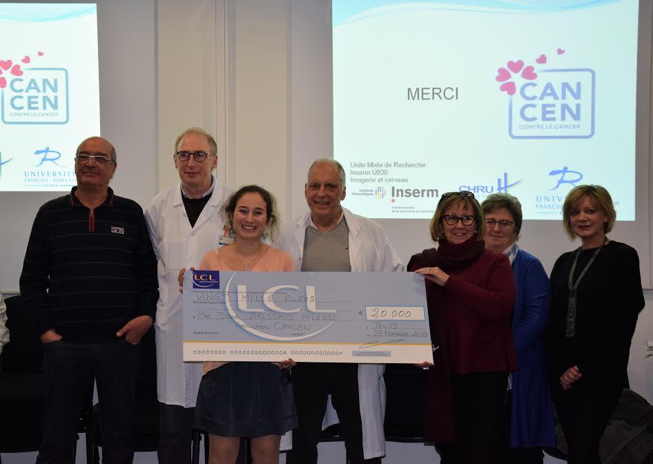 Bourse attribuée à Madame Diane Bressand Falawee pour ses recherches sur le cancer du pancréas