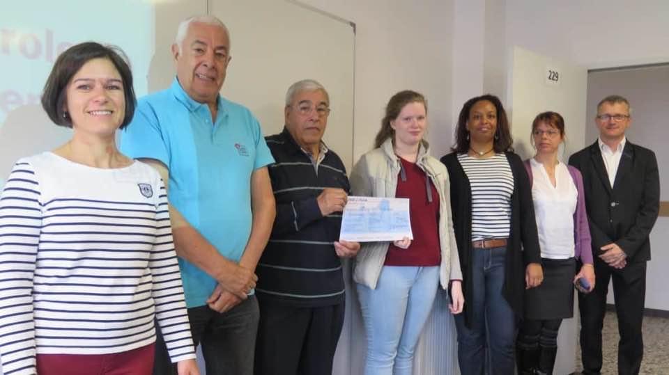 Remise chèque lycée Chaptal Amboise 2018